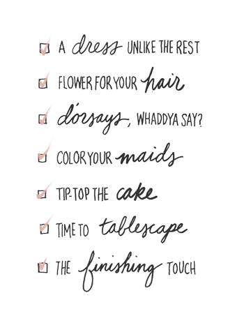 A Bride's To-Do