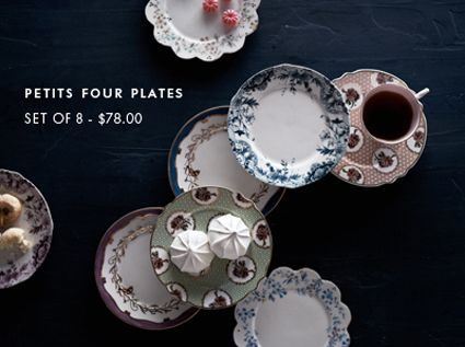 Petits Four Plates