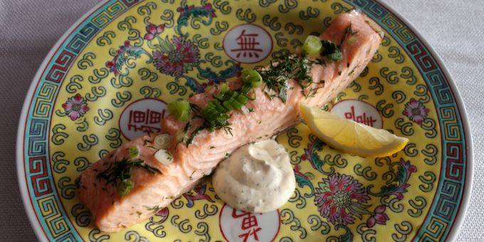 Dill-Poached Salmon Fillets