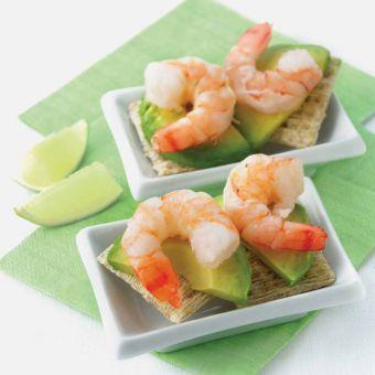 Shrimp and Avocado Canapes