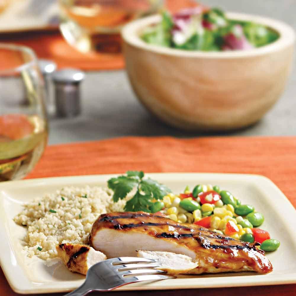Grilled Chicken with Chipotle-Orange Glaze
