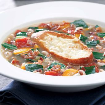 Collard Green and Black-Eyed Pea Soup