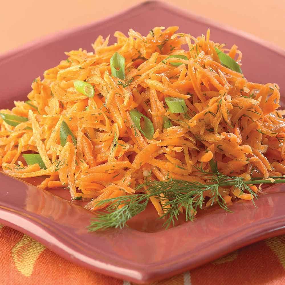 Lemony Carrot Salad with Dill