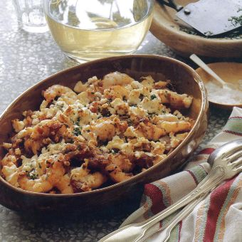 Shrimp with Tomatoes, Oregano and Feta