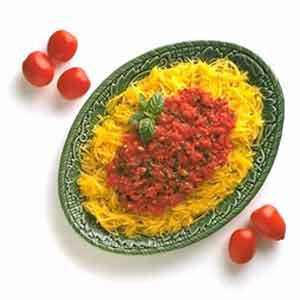Spaghetti Squash with Fresh Tomato Sauce