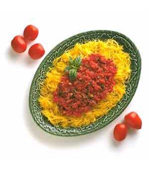 Spaghetti Squash with Fresh Tomato Sauce