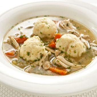 Lighter Chicken and Dumplings