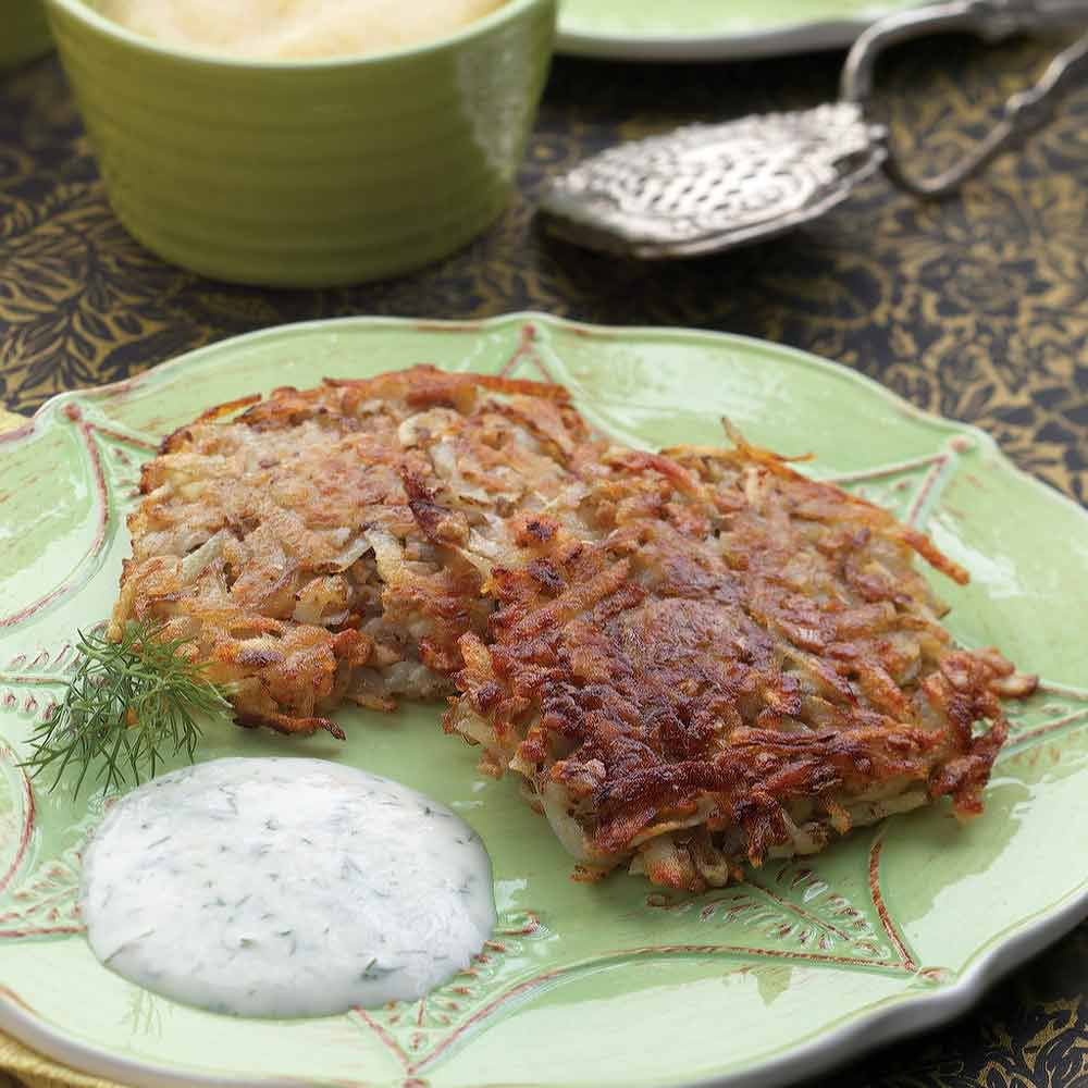 Oven-Crisped Potato Latkes