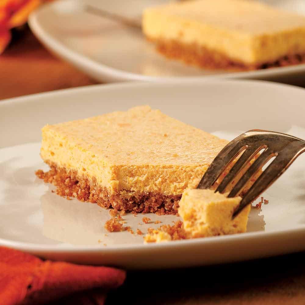 Squash Cheesecake Bars