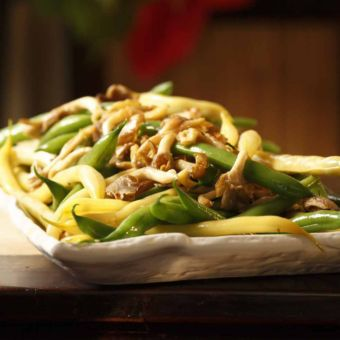 Green & Yellow Beans with Wild Mushrooms