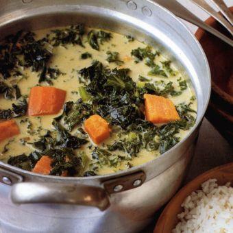 Island Kale and Sweet Potato Soup