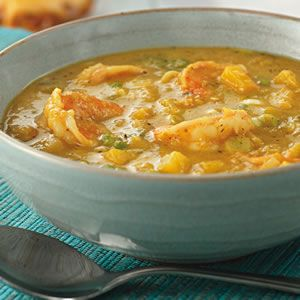 Jamaican Curried Shrimp and Mango Soup