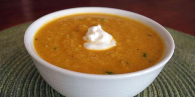 Curried Roasted Cauliflower Soup