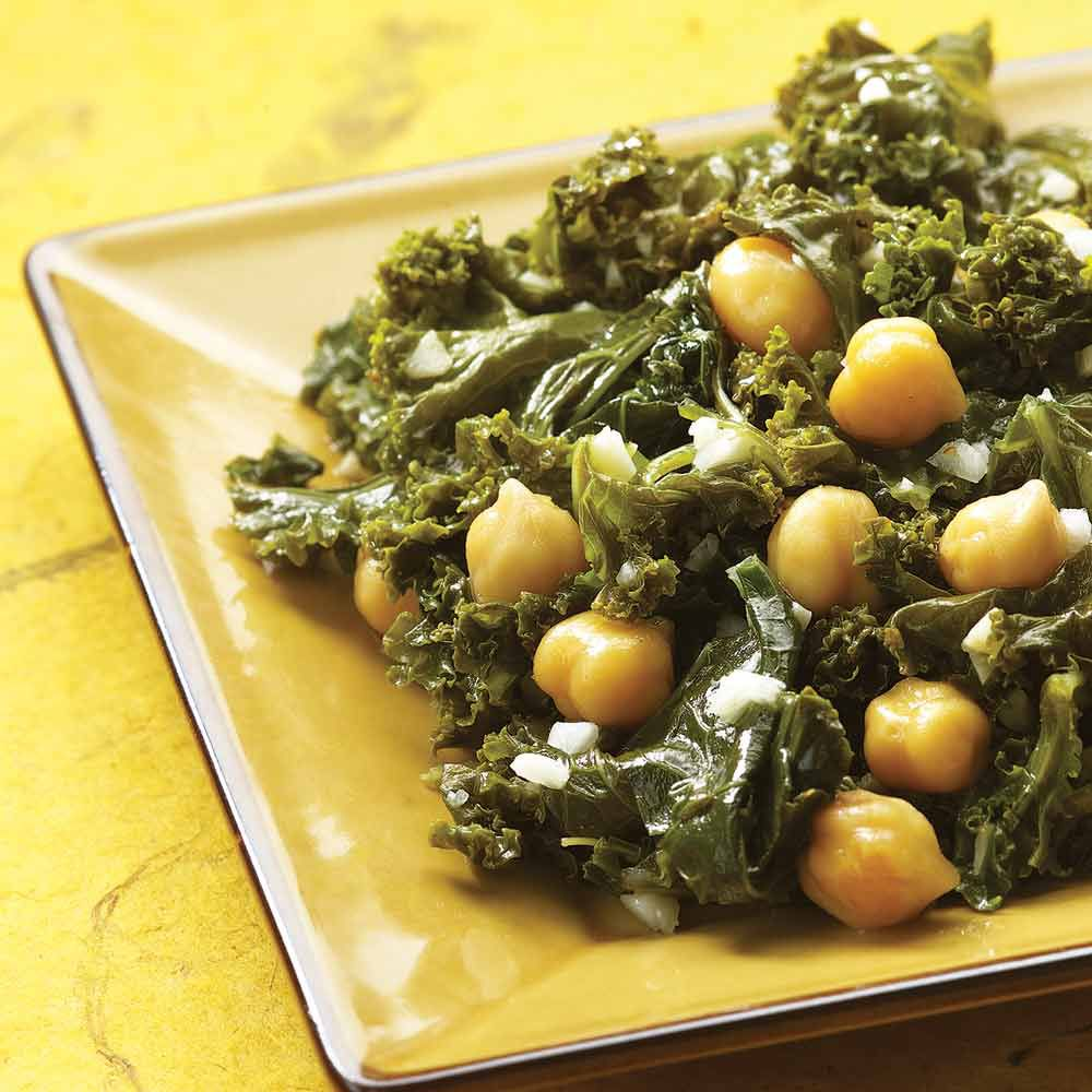 Indian-Spiced Kale and Chickpeas