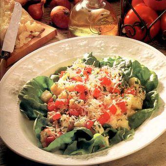 Potato Salad with Parmesan and Tomato