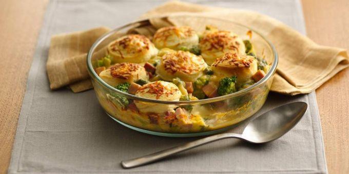 Ham and Broccoli Au Gratin