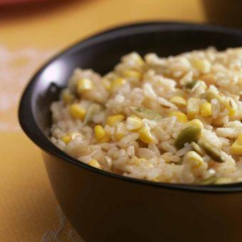 Spiced Corn & Rice Pilaf