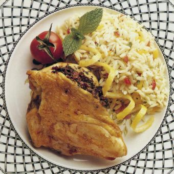 Chicken Breasts with Tomato-Mint Pesto