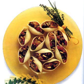 Eggplant Salad Shells