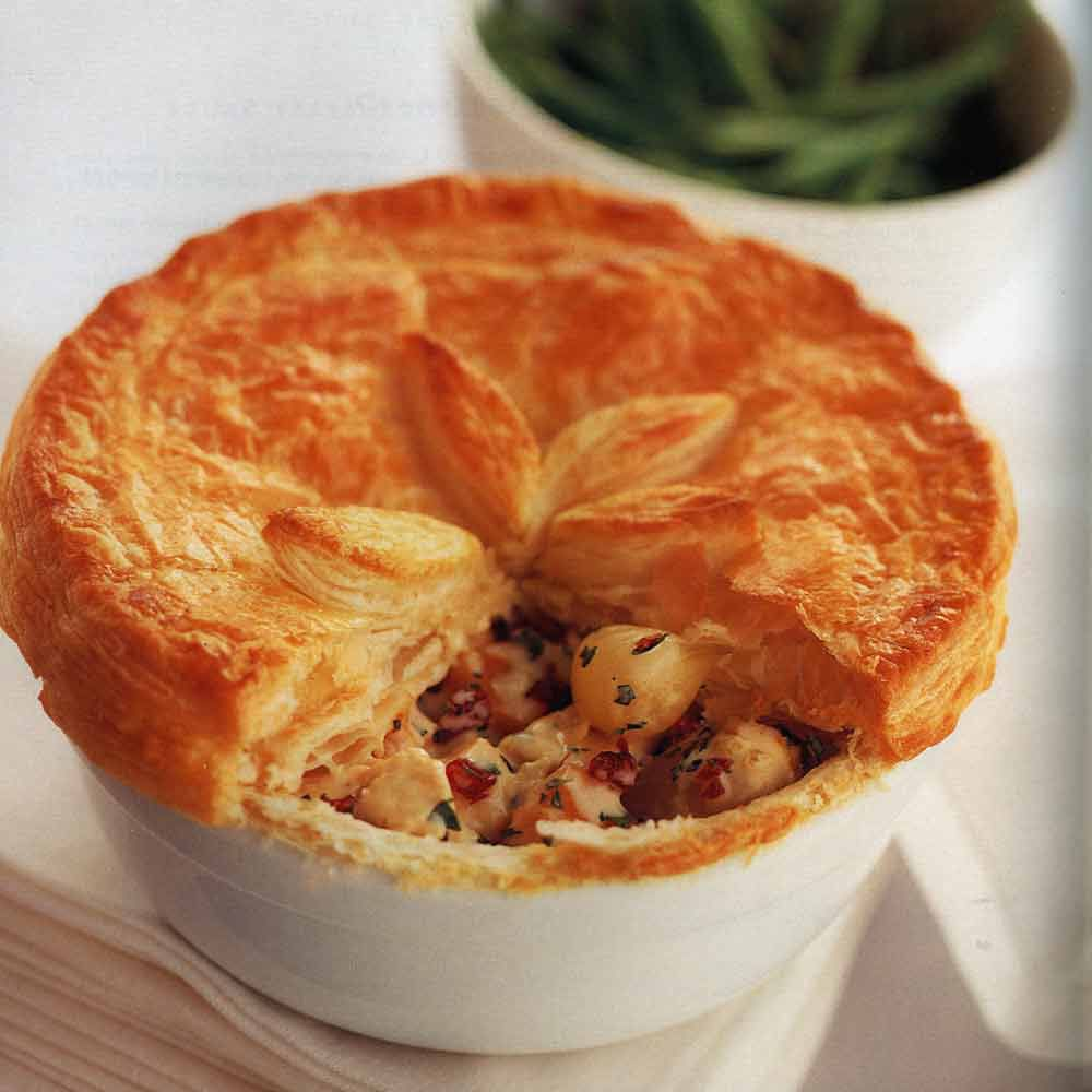 Smoked Turkey and Cranberry Pot Pies