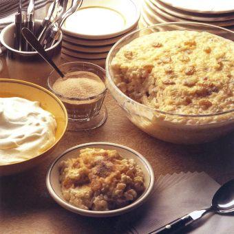 Rice Pudding with Golden Raisins