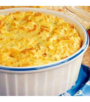 Three-Cheese Potato Souffle