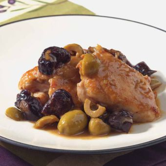 Chicken with Green Olives and Prunes