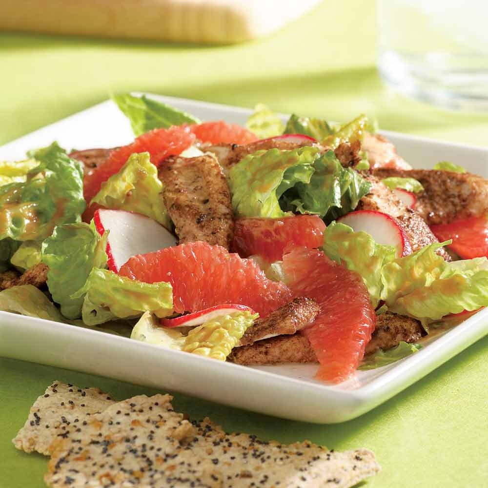 Grapefruit Chicken Satay Salad