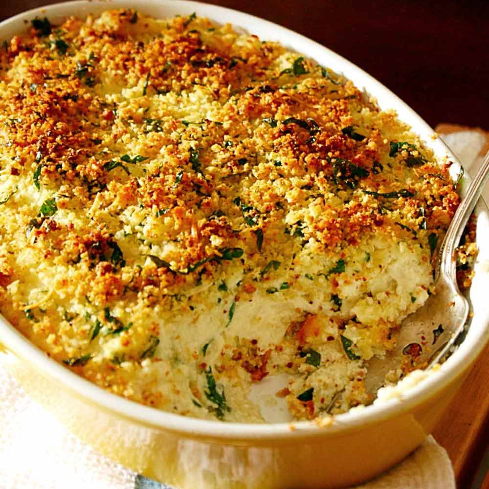 Italian Mashed Potato Casserole with Crunchy Crumb Topping Recipe ...