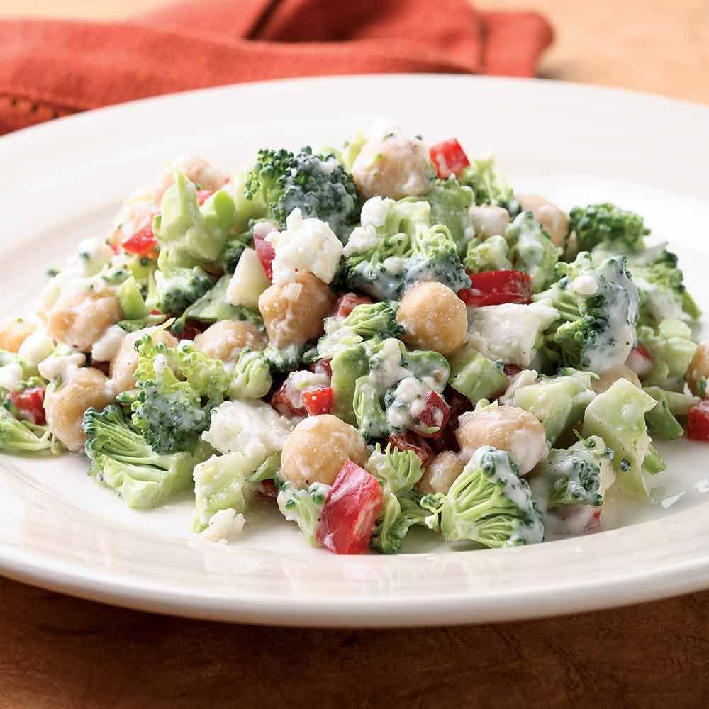 Broccoli Salad with Creamy Feta Dressing