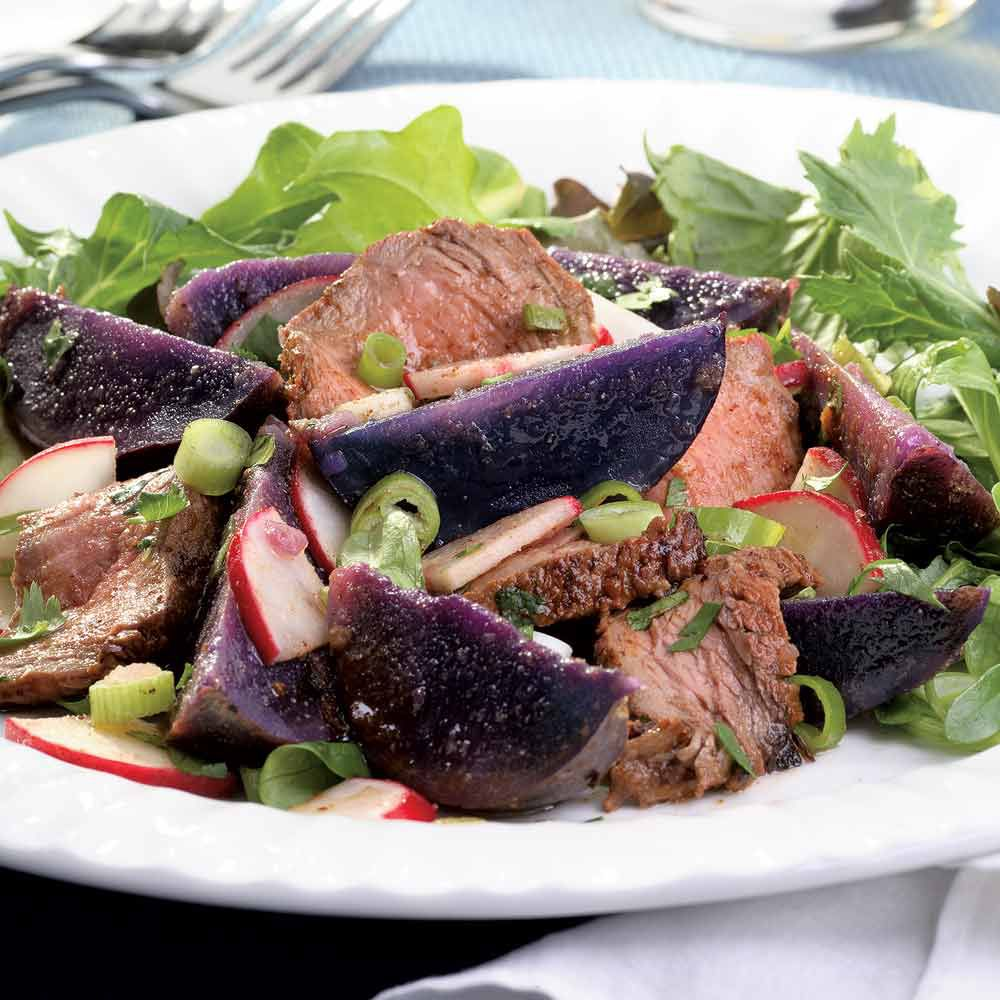 Steak and Purple-Potato Salad
