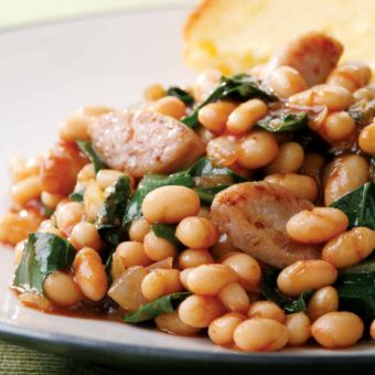 BBQ Baked Beans and Sausage