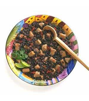 Cuban Black Beans with Pork