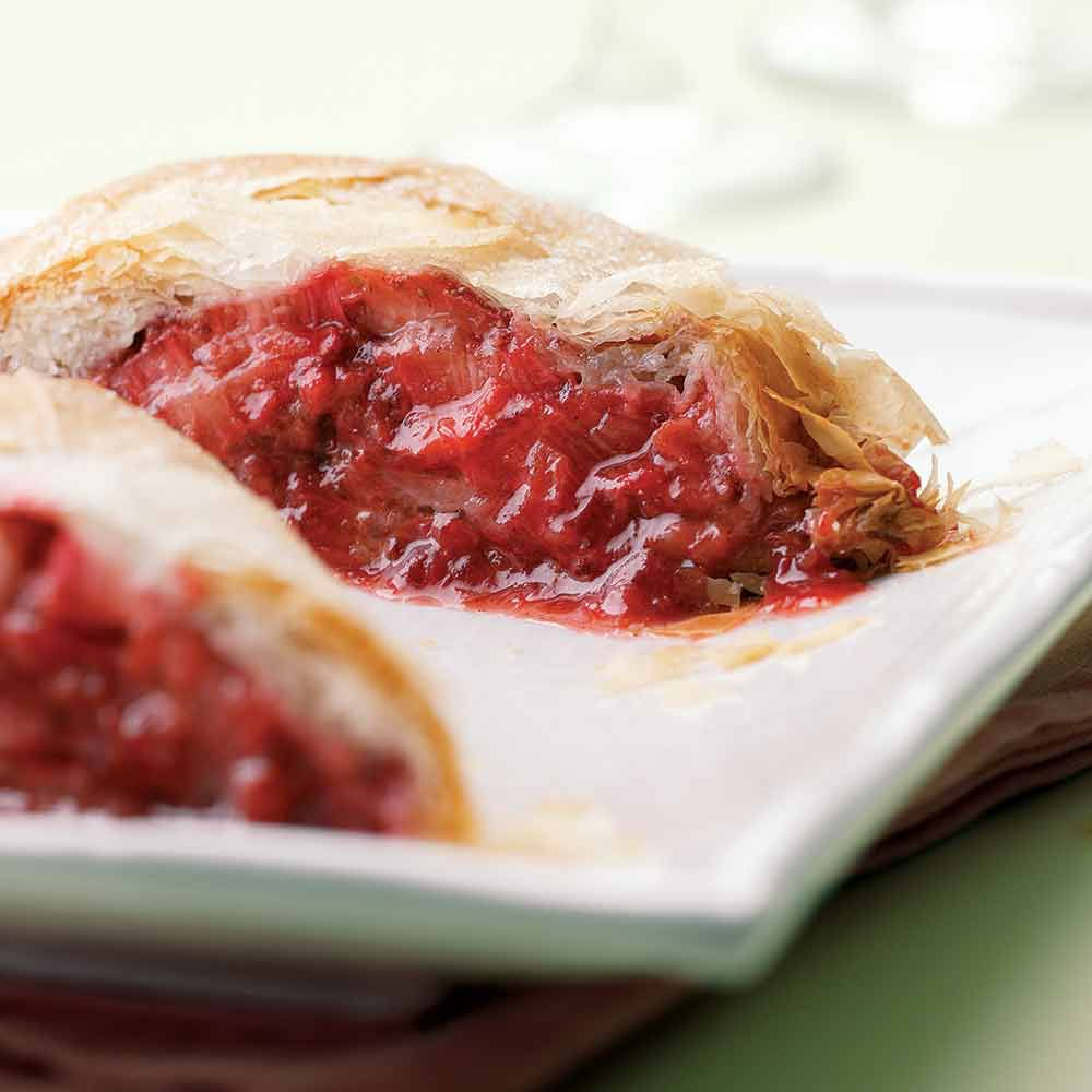 Strawberry-Rhubarb Strudel
