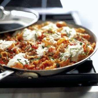 Skillet Meaty Lasagna