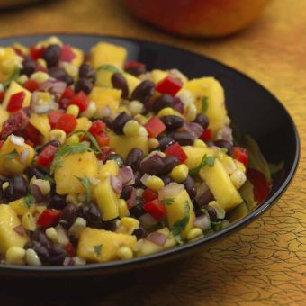 Roasted Corn, Black Bean & Mango Salad