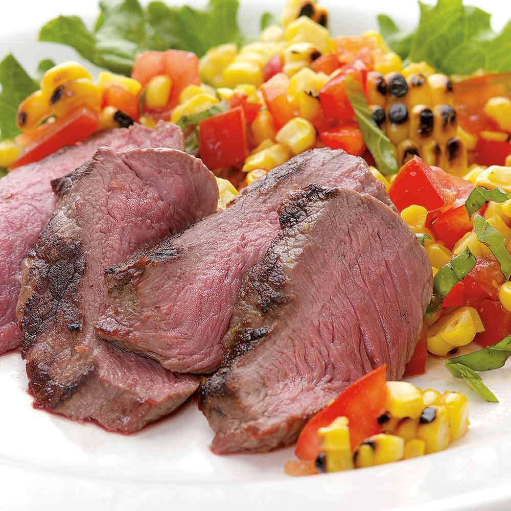 Grilled Steak with Fresh Corn Salad