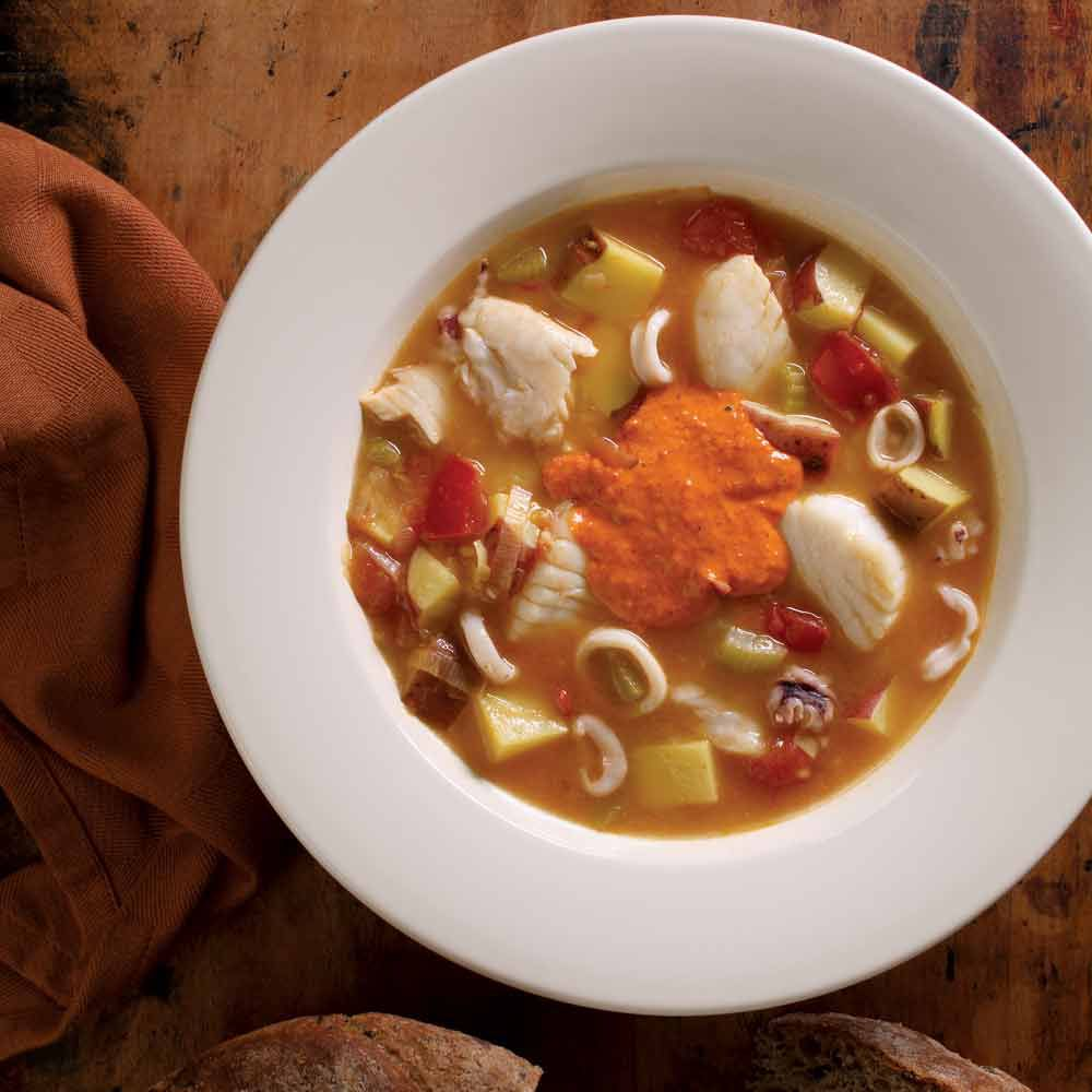 Bouillabaisse with Spicy Rouille