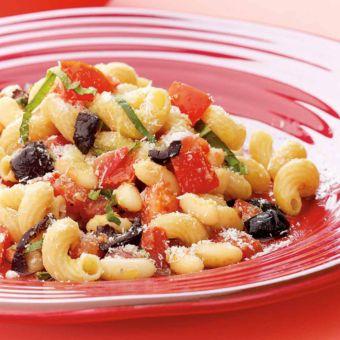 Fresh Pomodoro Pasta, White Beans and Olives