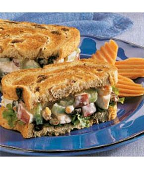 Waldorf Turkey Sandwiches