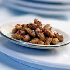 Roasted Almonds with Coriander, Chili and Olive Oil