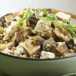 Chinese Braised Mushrooms & Tofu