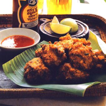 Corn, Shrimp and Pepper Fritters