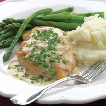 Sautéed Chicken Breasts with Creamy Chive Sauce