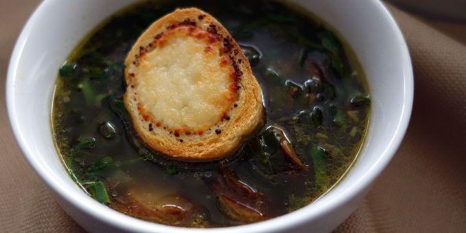 Quick Kielbasa and Swiss Chard Soup