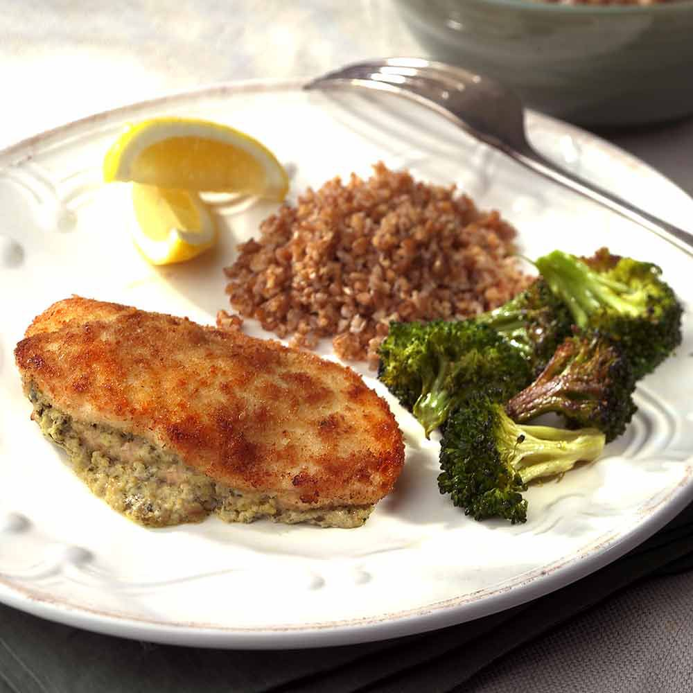 Cream Cheese and Pesto-Stuffed Chicken Breasts