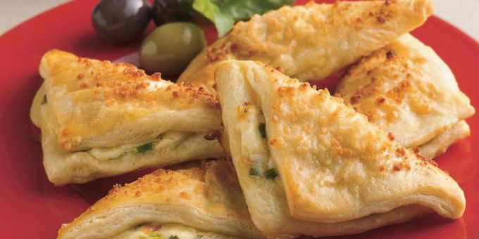 Cheese Crescent Triangles