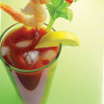 Bloody Mary with Shrimp