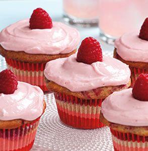 Raspberry-Swirl Cupcakes