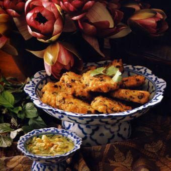 Fish Cakes with Pickled Cucumber Relish